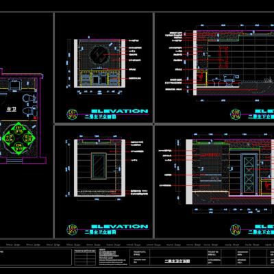 CAD施工图, 家装, 平面, 立面, 下得乐3888套模型合辑