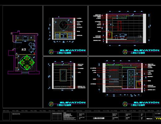 CAD施工图, 家装, 平面, 立面