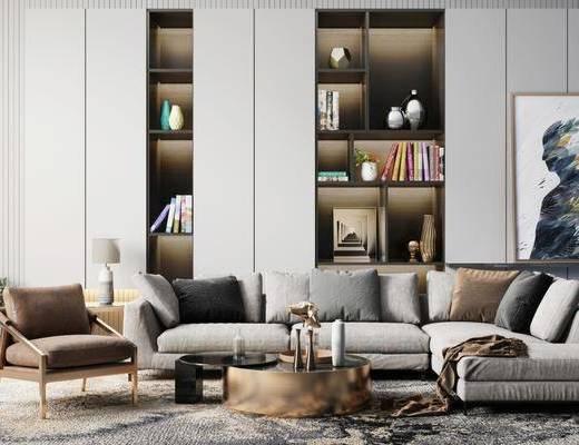 沙发组合, 沙发茶几组合, 现代沙发茶几组合