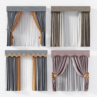 現代, 窗簾