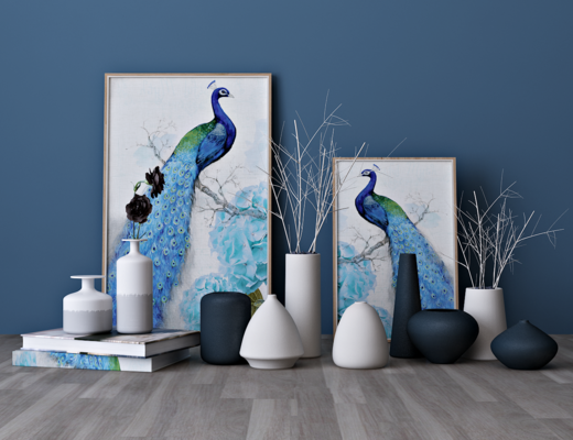 现代陶瓷花瓶, 装饰画