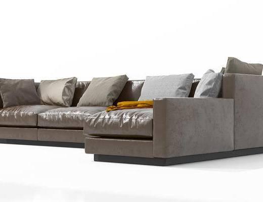 现代, 转角沙发, 多人沙发, 沙发