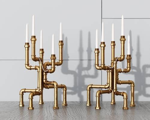工业风, 烛台灯, 蜡烛, 灯