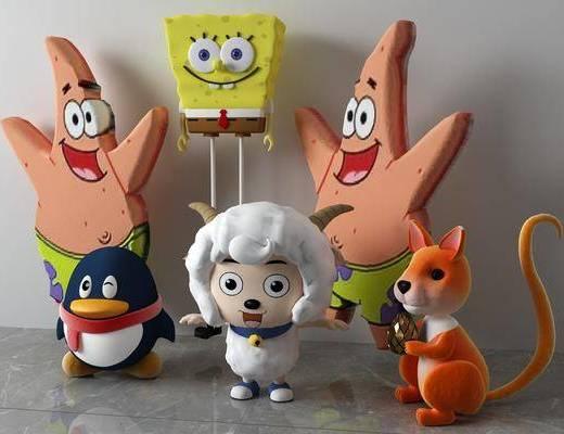 玩具组合, 玩偶玩具, 现代