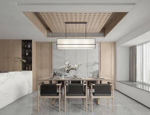 餐厅, 家装, 新中式
