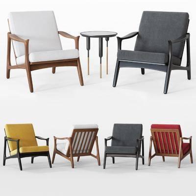 休闲椅, 单人椅, 北欧, 茶几