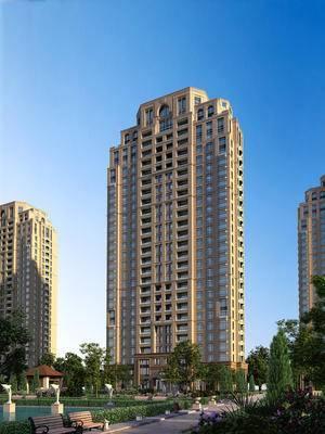 大厦, 建筑, 高层, 住宅, 小区, 大楼