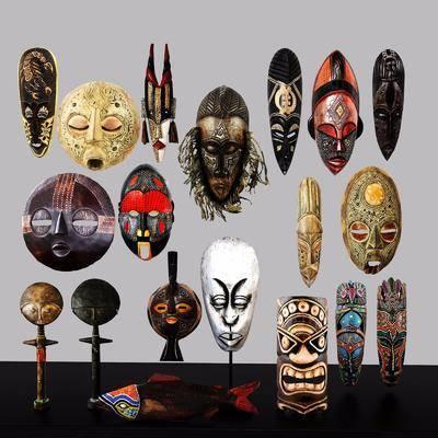面具, 脸谱, 墙饰