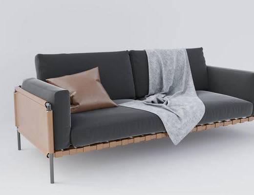 双人沙发, 沙发组合, 抱枕, 家具