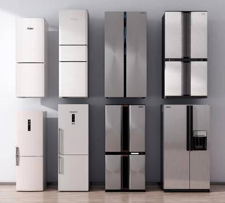 冰箱, 冰柜, 电器, 双开门