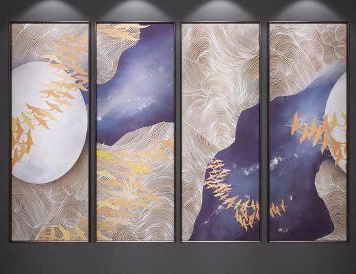 新中式, 装饰画