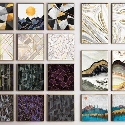 现代, 晶瓷画, 装饰画, 挂画, 后现代