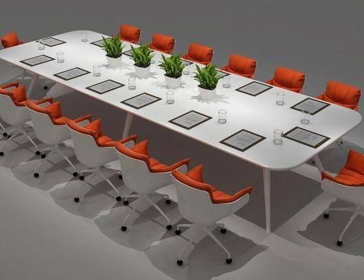 会议桌, 桌椅组合, 现代