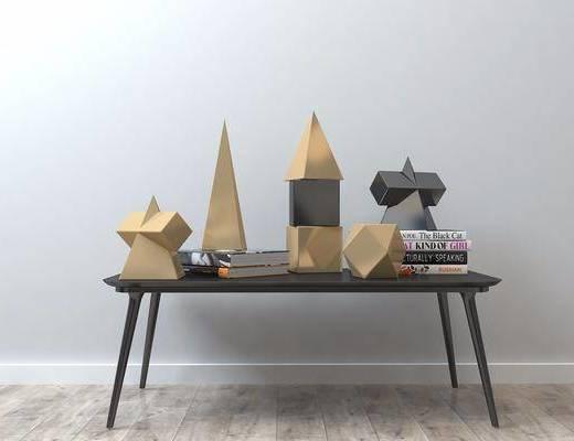 摆件组合, 金属, 几何摆件, 装饰品, 现代摆件组合, 现代