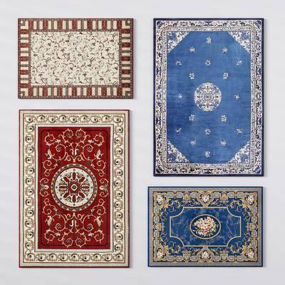 方形地毯, 布艺地毯, 地毯组合, 欧式