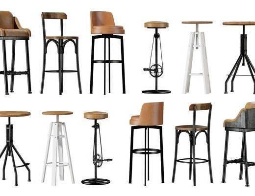 现代, 吧台椅, 单椅, 单体