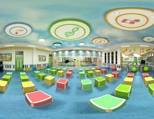 幼兒園, 教室, 活動區