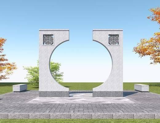 中式, 石雕