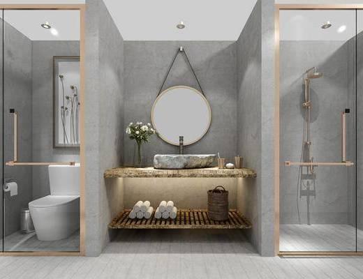 卫生间, 卫浴组合, 洗浴组合