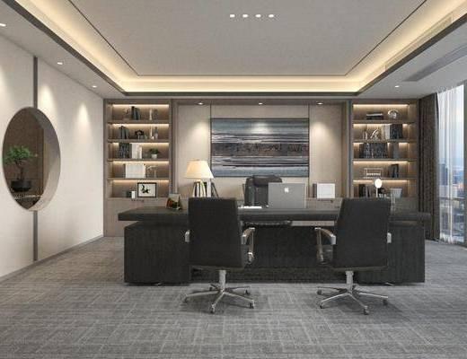 新中式, 办公室, 工装
