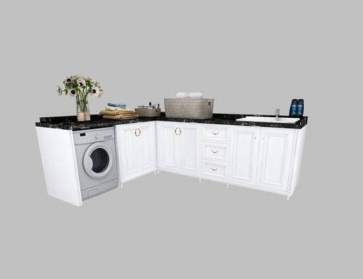 卫浴组合, 洗浴组合, 洗衣机