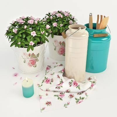 厨具, 花卉, 蜡烛, 厨具组合, 现代