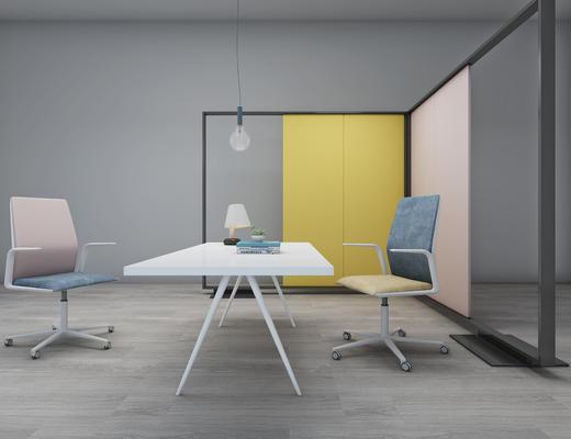 现代, 办公桌椅, 灯具