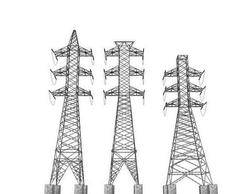 高压塔, 高压线