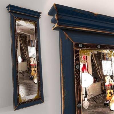 落地灯, 全身镜, 镜子, 现代