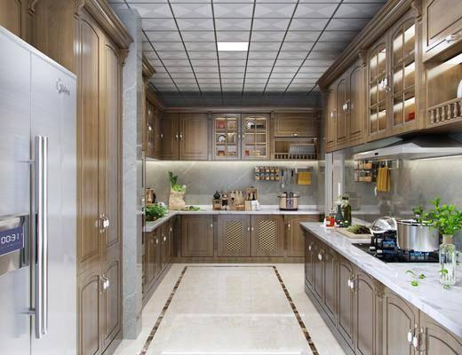 欧式厨房, 厨房, 厨房橱柜