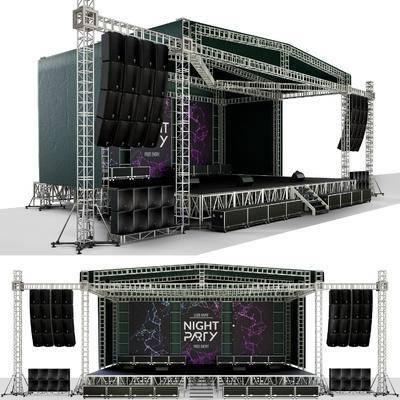 露天舞台, 室外舞台, 音响, 舞台, 现代, 演唱会