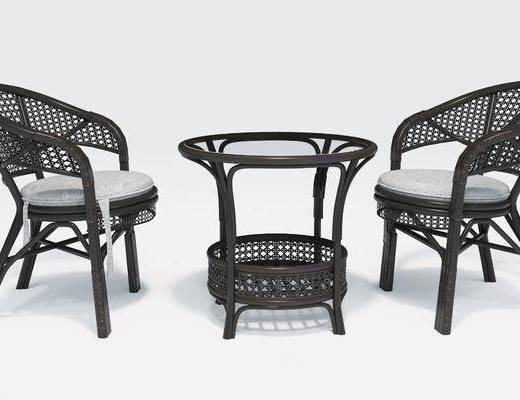 休闲桌椅, 桌椅组合, 桌子, 休闲椅, 藤椅, 茶几, 单人椅, 铁卓, 现代
