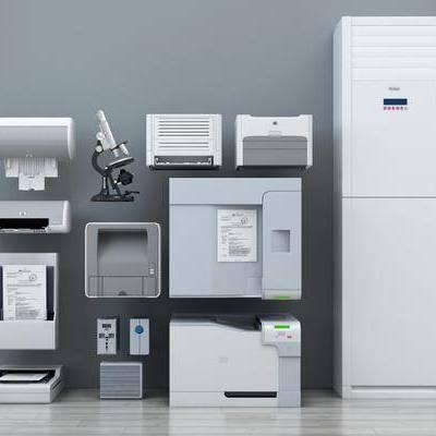 现代打印机, 现代, 打印机, 显微镜