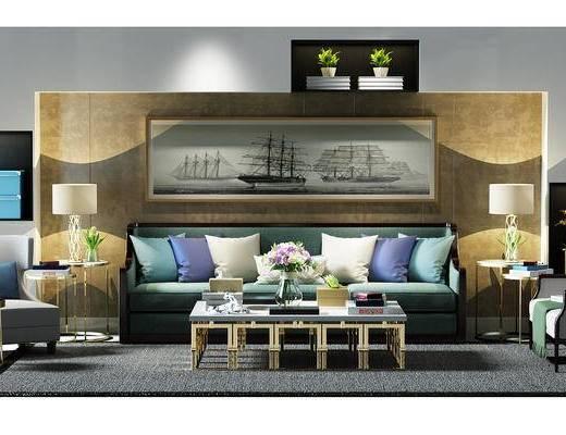 沙发椅, 椅子, 凳子, 沙发凳, 地毯, 茶几, 茶几组合, 现代, 单椅, 多人沙发, 沙发组合