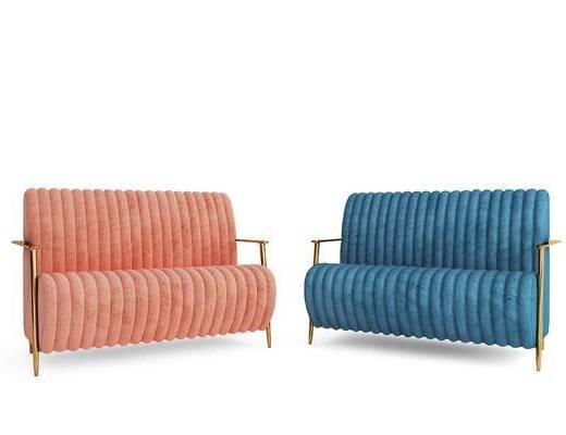 双人沙发, 沙发组合, 沙发脚踏
