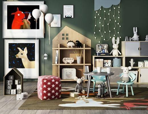 玩具, 墙饰, 置物柜