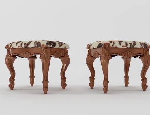 古典方凳, 欧式方凳