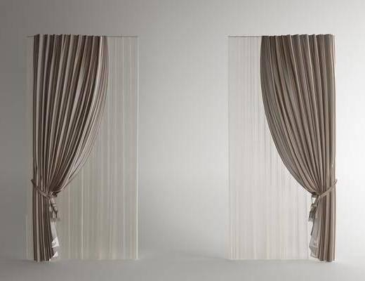 纱帘, 窗帘, 布艺窗帘
