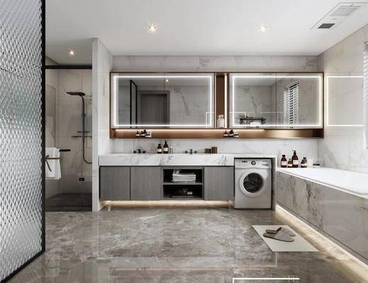 卫浴, 橱柜组合, 摆件组合, 电器, 浴缸