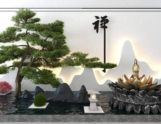 园林景观, 假山, 假石, 假树, 雕塑