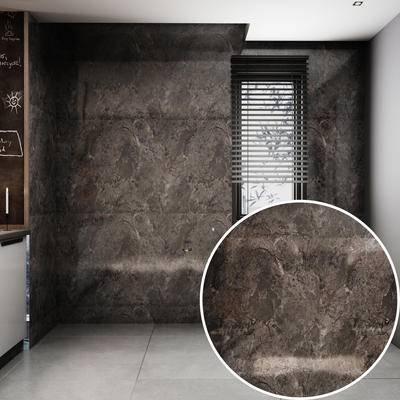 瓷砖, 大理石