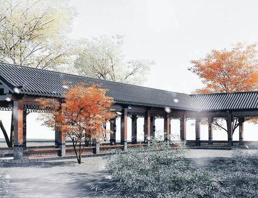中式長廊, 長廊, 古建筑長廊