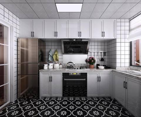 现代, 厨房, 家装