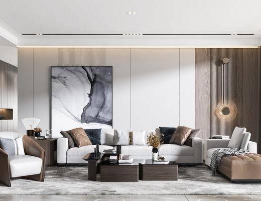 现代沙发, 沙发组合, 沙发茶几组合, 现代沙发茶几组合