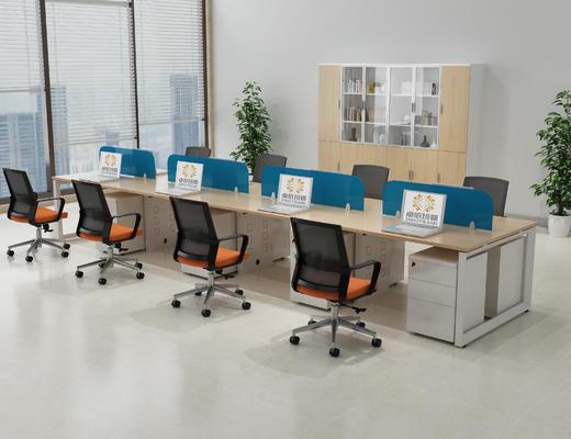 职员桌组, 办公空间, 开放办公区, 办公桌组场景