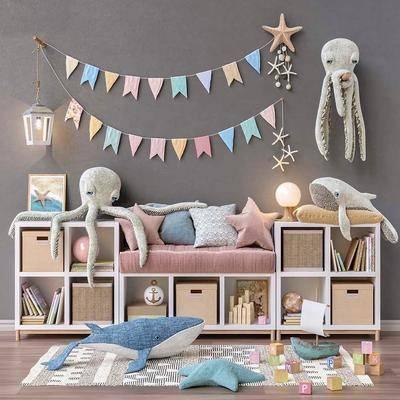 玩具, 玩偶, 置物柜, 装饰柜