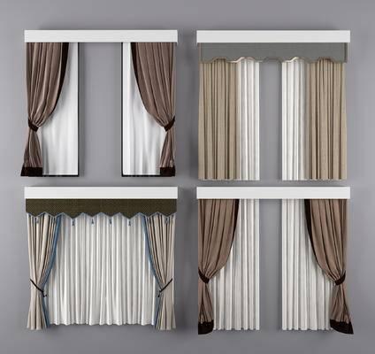 窗帘, 布艺, 窗纱, 现代