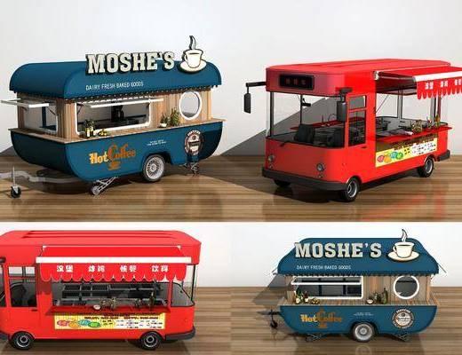 快餐车, 摆件组合, 现代