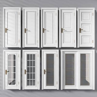 门, 房门, 简欧门, 门构件, 构件, 移门