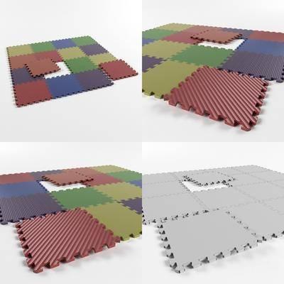 现代地板, 地板垫子